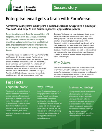 An image showing how Enterprise Email gets a brain with FORMVERSE Workflow Automation