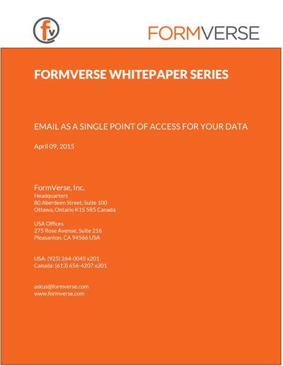 An image showing the FORMVERSE WHITEPAPER SERIES PROCESS AUTOMATION, FORMS, & THE INTEGRATED BACK OFFICE